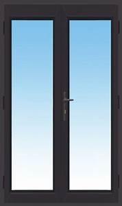 Porte fenetre aluminium gris anthracite 2 vantaux dormant for Porte fenetre alu gris anthracite