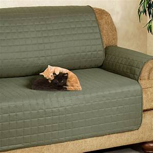 Microfiber sofa covers ultimate pet furniture protectors for Furniture covers with straps