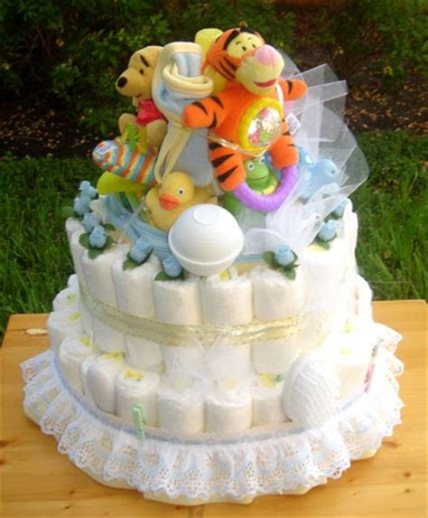 diaper cakes  baby shower gifts winnie  pooh