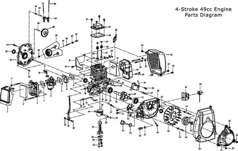 Two Cycle Carburetor Diagram by 49cc Engine Parts Bicycle Engines Pertaining To 2 Cycle