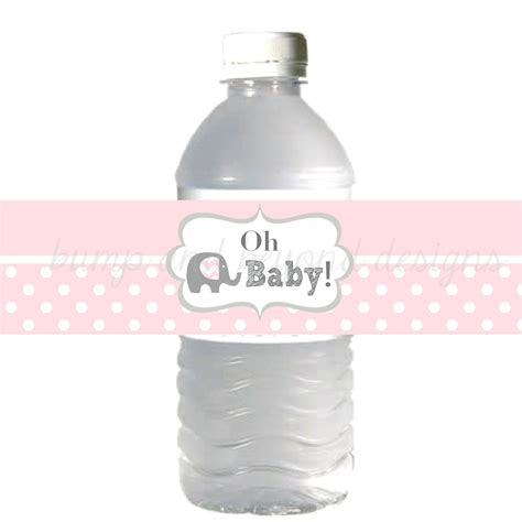 printable water bottle labels for baby shower water bottle labels printable baby bumpandbeyonddesigns