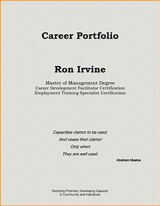 resume portfolio cover page resume ideas With career portfolio template