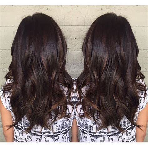 balayage schwarz braun chocolate with a subtle lift color by jackss hair haircolor вeaυтy and ѕтyle in