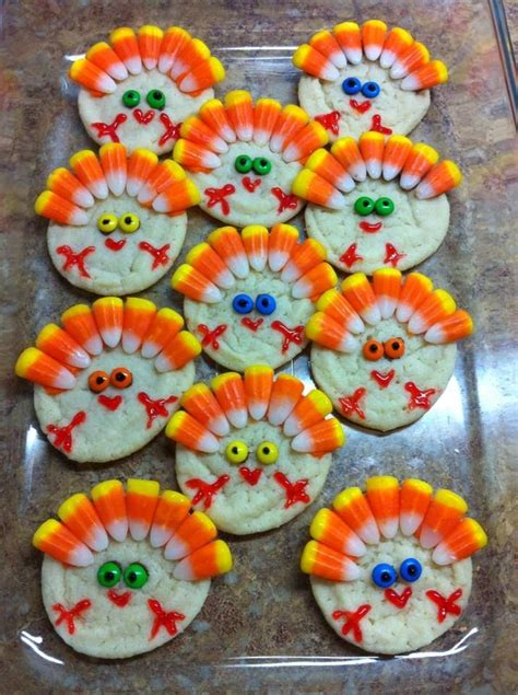 turkey cookies thanksgiving