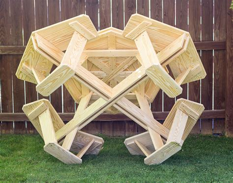 treated pine kid s octagon picnic table