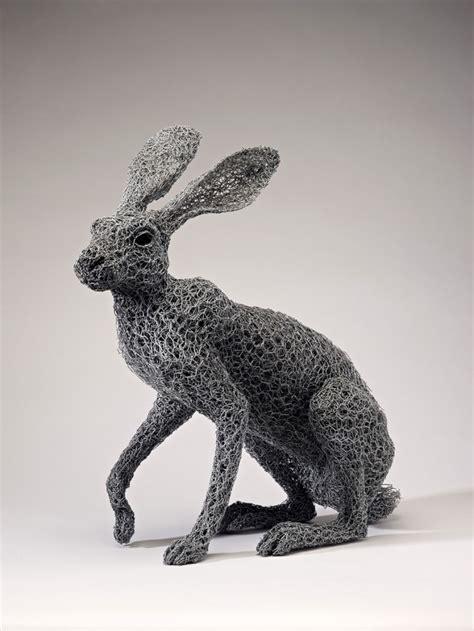 esculturas de animales hechas  alambre por kendra