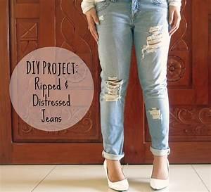 DIY Project Ripped u0026 Distressed Jeans