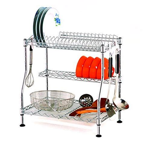 dish drying rack suncom  tier adjustable kitchen dishes httpswwwamazoncomdp
