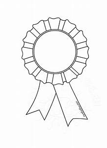award rosette template coloring page With award ribbon template printable