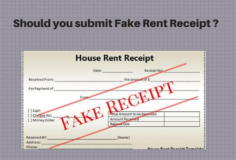 fake rent receipts is it right to submit fake rent receipts at my office to claim hra