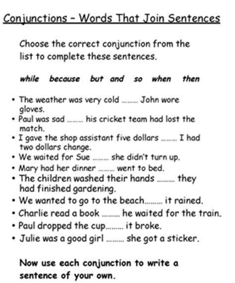 cohesion identifying and using a range of conjunctions