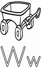 Wagon Coloring Alphabet Letter Wheel Worksheets Printable Education Features Wpclipart Getcolorings Horse Well sketch template