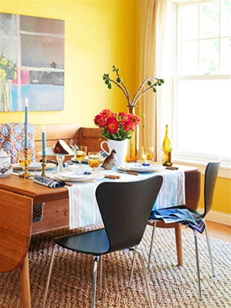 breezy yellow dining room designs rilane