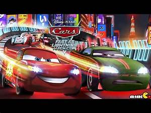 Cars Fast as Lightning NEW UPDATE Neon Racing Trailer