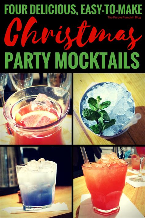 delicious easy   christmas party mocktails
