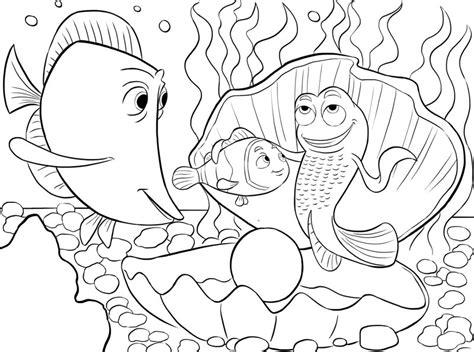 buku halaman mewarnai gambar nemo si ikan lucu untuk anak