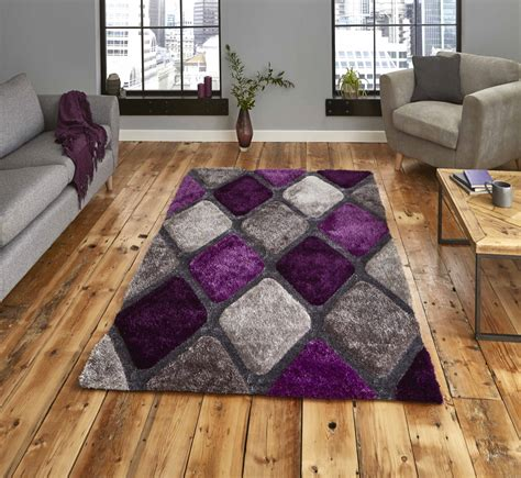 gray and purple rug noble house nh9247 grey purple think rugs