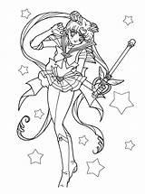 Coloring Pages Sailormoon Sailor Moon Manga Super sketch template