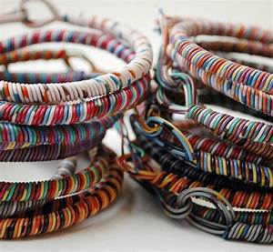 Cute Bracelets    Upcycled Telephone Wire
