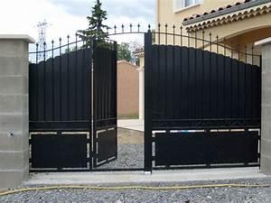portail electrique avec portillon portail bois en kit With marvelous porte de maison prix 2 comment choisir un portillon en aluminium le portail alu