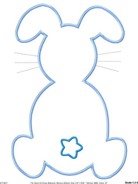 easter bunny cut out template 89047 bunny rabbit template easter cut out and outline litle pups