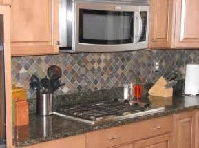 Slate Backsplashes For Kitchens Ceramictec Multi Color Tumbled Slate Kitchen Backsplash