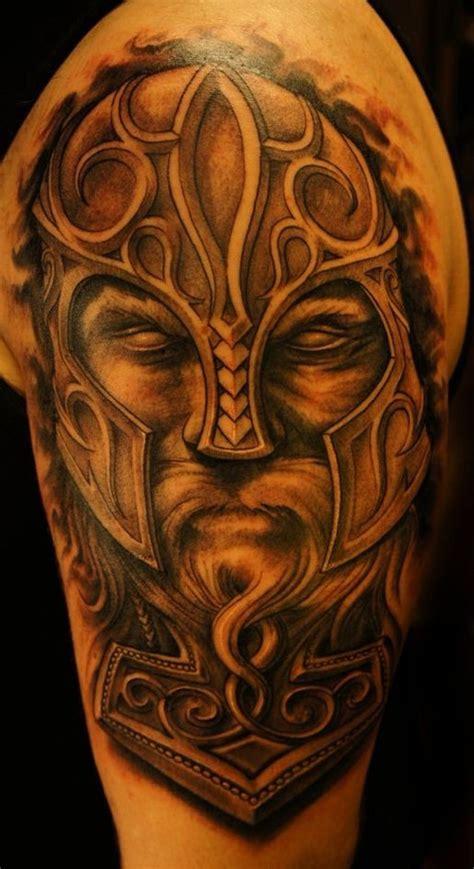 lovely viking tribal shoulder tattoos
