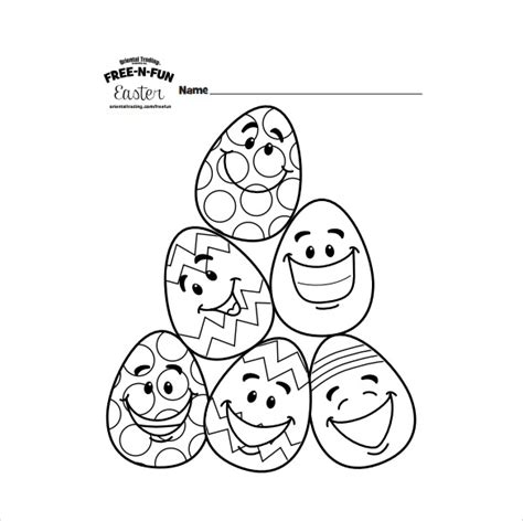 easter colouring pages  sample  format