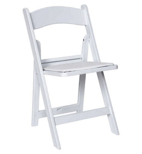 resin folding chair white