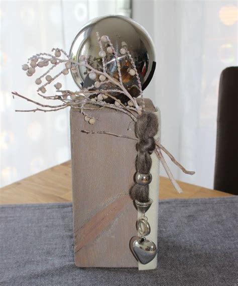 lenschirm selber machen stehle kl01 u2013 kleine dekos ule aus altem holz gebeizt dekoriert mit einer edelstahlkugel
