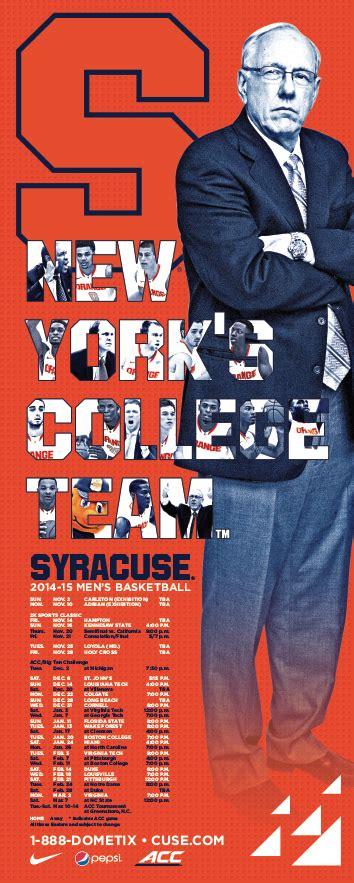 syracuse mens basketball poster   basketball