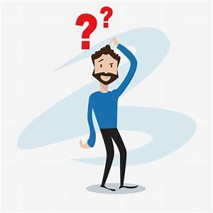 Confused cartoon man, Question Mark, Confused, Cartoon PNG ...