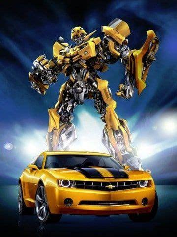 imagenes de bumblebee de transformers  colorear