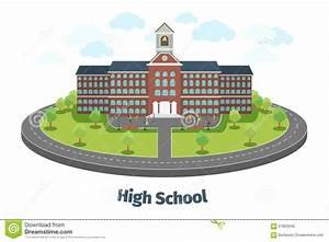 High School Or University Building. Educational Stock ...