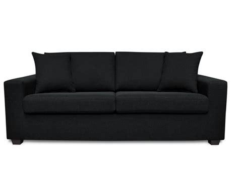 canape noir but canapé tissu noir achat en ligne