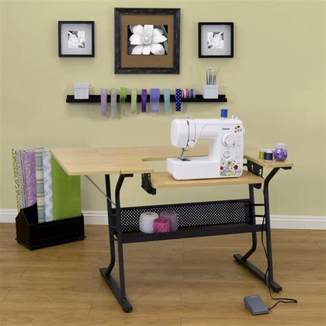 sewing machine desk adjustable sewing machine craft table stand folding shelf