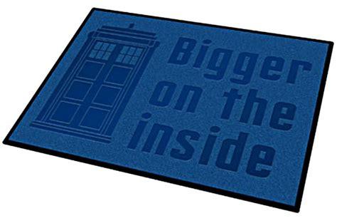 dr who doormat doctor who bigger on the inside door mat merchandise