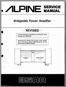 Alpine 3508 30616901a Service Manual  Analog Alley Manuals