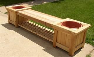 diy wood planter bench plans wooden  build woodworking