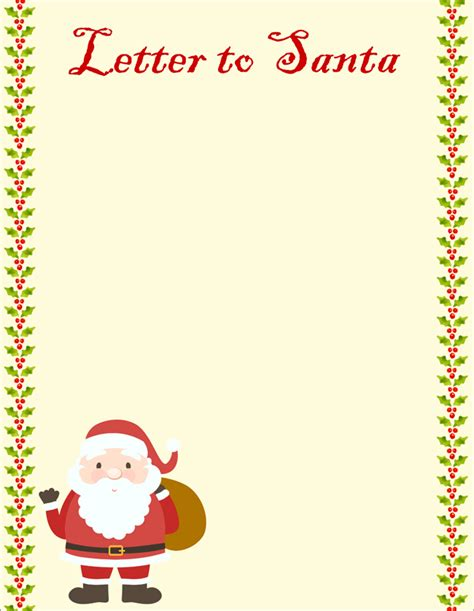 Letter From Santa Template Word 20 Free Letter To Santa Templates For To Write Wishes