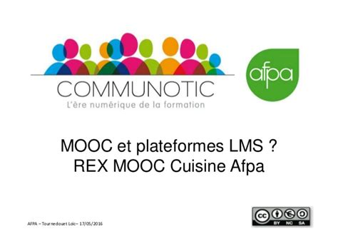 formation afpa cuisine mooc et lms rex mooc cuisine afpa webinar communautic