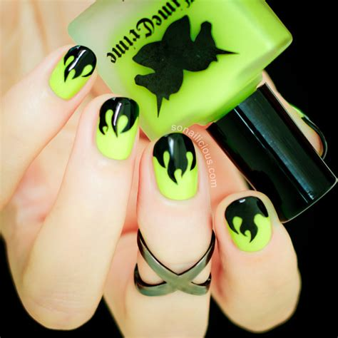 mystical flame halloween nails tutorial