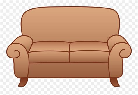 Sofa Clipart by Beige Living Room Sofa Transparent Background