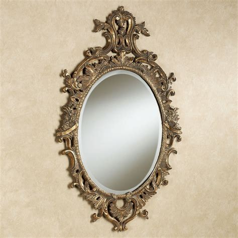 antique mirror cleopatra oval wall mirror