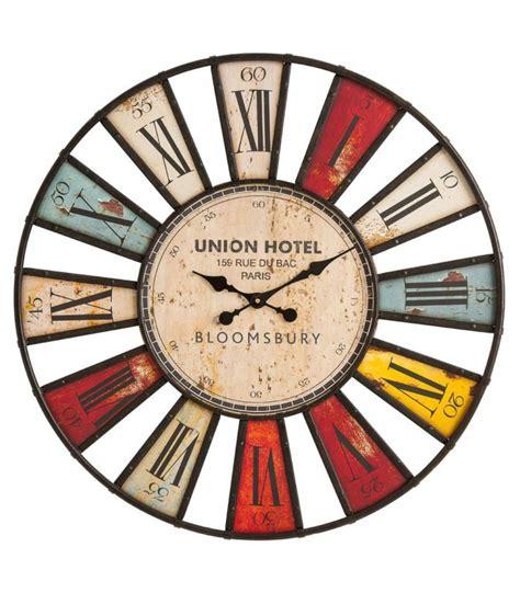 horloge cuisine originale horloge murale originale multicolore bloomsbury 80 cm