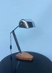 Lampe De Bureau Ancienne : belle lampe de bureau chrome et marbre ancienne poque art deco catawiki ~ Teatrodelosmanantiales.com Idées de Décoration
