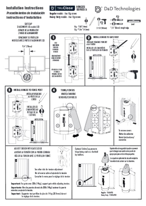 metal gates adjustable gate spring hinge  leg rust proof  ga hingeoutlet