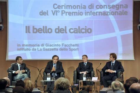 Sede Gazzetta Dello Sport Michel Platini Vince Il Premio Giacinto Facchetti Il