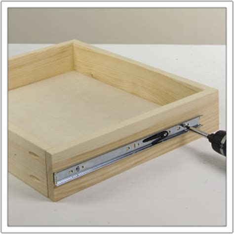 how to install kitchen cabinet drawer slides how to install drawer slides build basic 9440