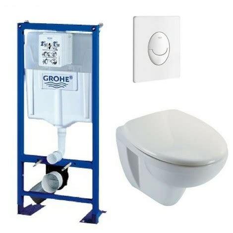 bati support wc suspendu grohe autoportant plaque blanche 1181472b